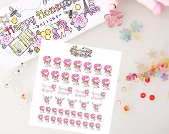 BLISSY the unicorn (Grocery shopping) stickers