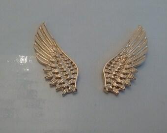 Punk Angel Wings Pins...Pair of collar Pins