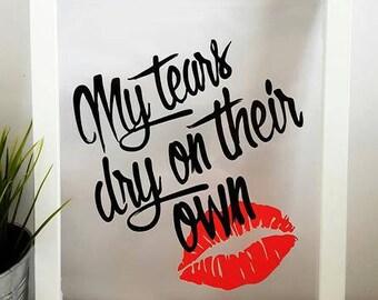 Amy Winehouse: 'My Tears Dry on their Own' framed