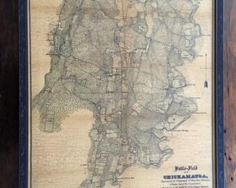 Map of Chickamauga Georgia Battlefield - Reproduction Antique Print - c1864