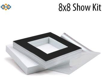 8x8 Photo Mat Show Kit (25 Mats + Backers + Bags)