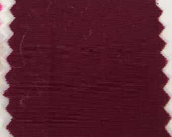 Burgundy Quilter's Homespun 100% Cotton Fabric 1/2m lengths