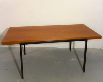 60s Lübke dining table with teak wood surface