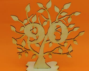 Present for the 90th Birthday, life tree in 1927