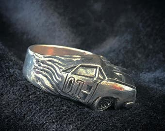 Dodge Charger - Ring -Sterling Silver 925