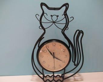 CHANEY CAT CLOCK