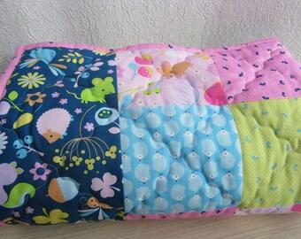 Patchwork baby blanket (minky baby blanket)
