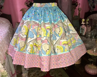 Retro comic pastel skirt