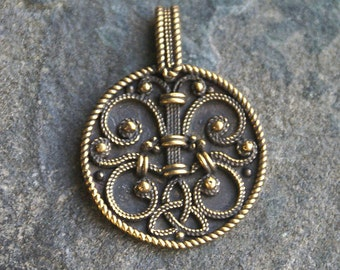 Pendant filigree Rus of the 10th century. Necklace of the Medieval age. Medieval amulet. Medieval pendant