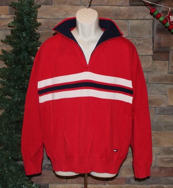 sale vintage tommy hilfiger sweater 1 4 zip pullover. Black Bedroom Furniture Sets. Home Design Ideas