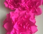 Giant fuschia pink Paper ...