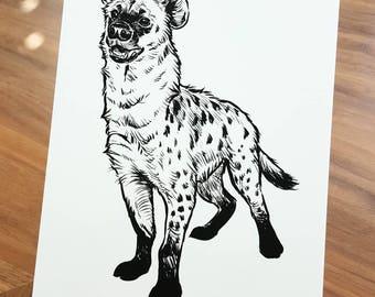 Happy Hyena (limited edition print)