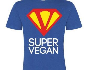 SUPER VEGAN - Men's basic shirt - BLUE