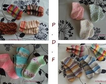 PDF chaussettes bébé au crochet