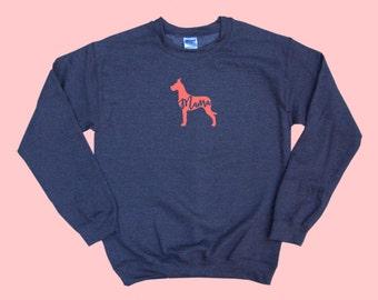 """Great Dane """"MAMA"""" - Dog Mama Crewneck Sweatshirt"""