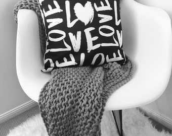 Love - Decorative Pillow Case, Throw Cushion Case, Pillow Cover, Decor, Throw Pillow Case, Cushion Cover