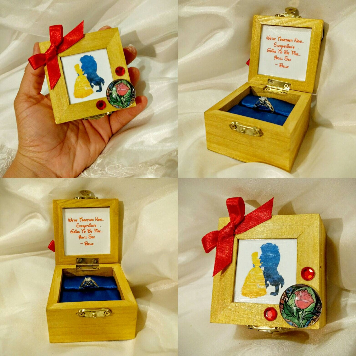Disneys Beauty And The Beast Inspired Engagement Ring Box With