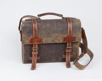 Brown Messenger Bag Leather Handmade