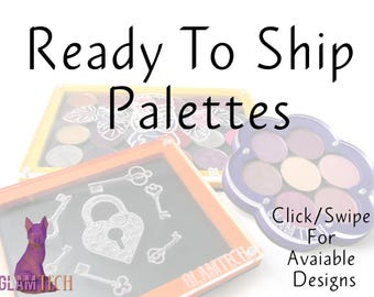 Ready To Ship Magnetic Makeup Palettes - Various Designs - Eyeshadow Palettes - Makeup Storage - Travel Eye Shadow Palettes - by GlamTech