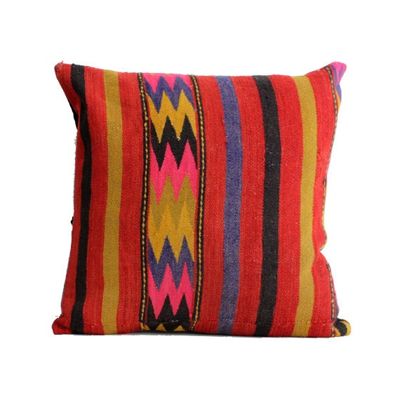 24x24 Kilim Pillow Cover Floor Cushion Large Size Floor