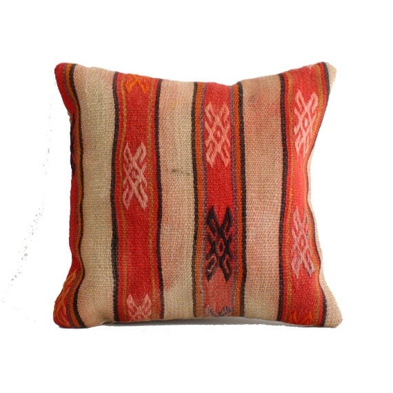 Vintage Turkish Kilim Pillow Cover Bohemian Decorative Pillow
