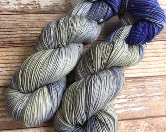 Isabel - The Dark Knight - Hand Dyed Yarn - 75/25 Superwash Merino/Nylon