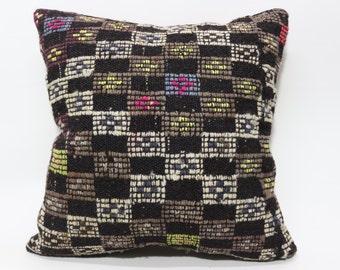 24x24 Bohemian Rug Pillow Fllor Pillow Naturel Carpet Pillow Cushion Cover 24x24 Handwoven Carpet Pillow Sofa Pillow  SP6060-1082