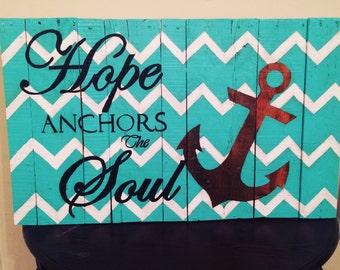 Hope Anchors The Soul (Cheveron) pallet art