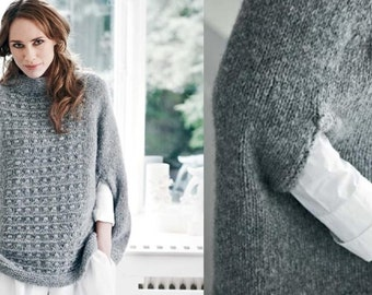 Knitted Poncho/Cape
