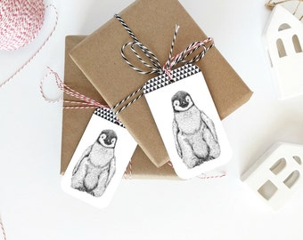 Baby Shower Gift Tag, Penguin Baby Shower, Baby Shower Tags, Gift Tags,