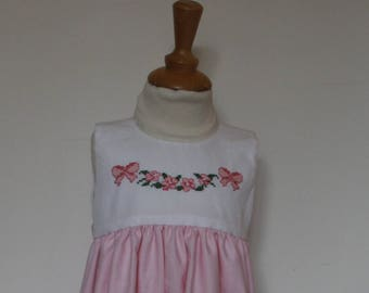 Dress embroidered baby hand T 12 months
