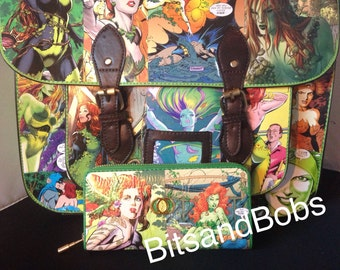 Poison ivy Custom large satchel Bag And Purse