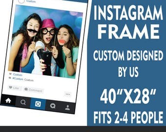 Instagram Frame Printed & Shipped to your door. Custom designed cutout photo booth prop birthday wedding