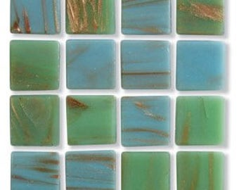 Mediterranean Metallic Glass Mosaic Tile 3/4""