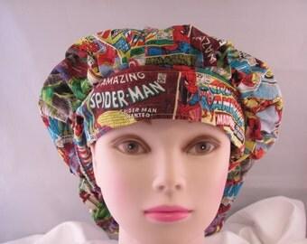 Women's Bouffant Scrub Hat Marvel Comics