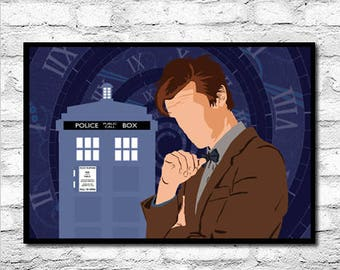 Doctor Who The Eleventh Doctor - Digital Minimalist Art Print - 7x5 10x8 12x8 14x11 20x16 A3 A4 A5 Sizes