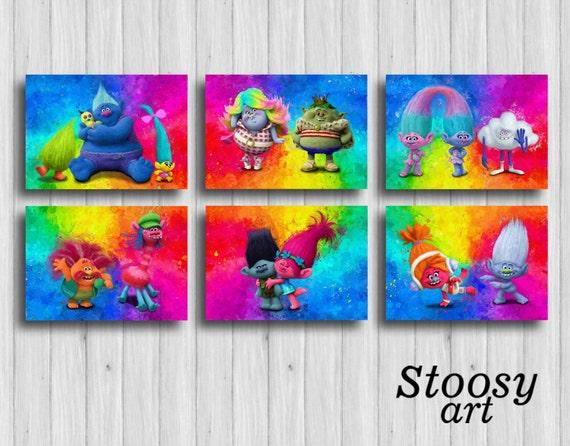 Dreamworks Trolls Funky Wall Art