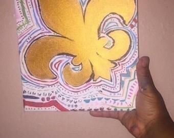 Gold Fleur De Lis Painting