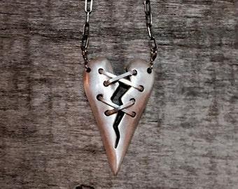 Staple Heart Necklace