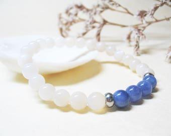 Tanzanite Bracelet Rainbow Moonstone Bracelet Gemstone Bracelet Womens Bracelet Spiritual Bracelet Healing Bracelet Moonstone Bracelet 6mm