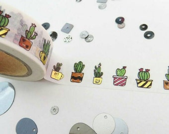 Succulent design washi tape