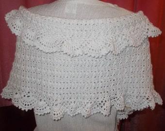 White bridal shawl, wedding shawl, bridal wrap, wedding wrap, crochet shawl, Bridesmaid Gift, cotton shawl, cotton wrap
