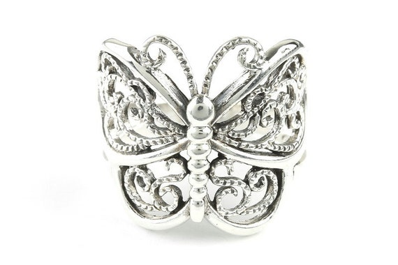 Butterfly Transformation Ring, Sterling Silver Butterfly Ring, 925, Boho, Gypsy, Festival Jewelry, Hippie Jewelry, Nature, Spiritual Jewelry