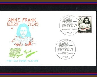 Anne Frank  Commemorative First Day Cover