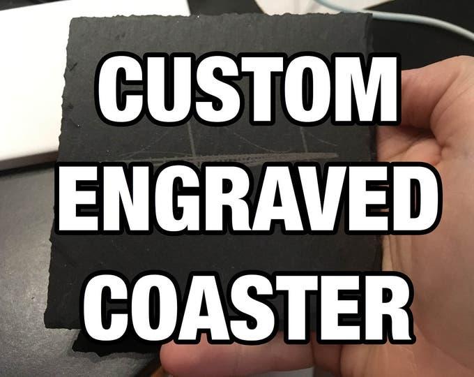 Custom Laser Engraved Coaster Set