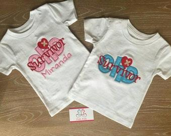 CHD Congenital Heart Defect  personalized Girl or Boy short sleeve bodysuit or Shirt