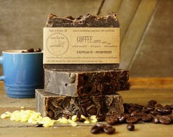Coffee Soap | Exfoliating Hand Soap, Scrub Soap, Coffee Scrub, Gardener's Soap, Mechanic's Soap, Homemade, All Natural Soap