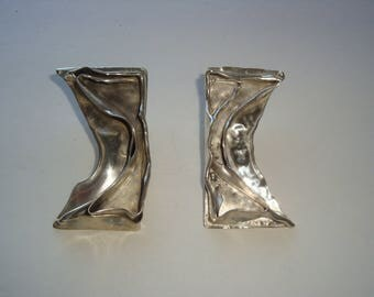 Unique Abstract Style Sterling Earrings
