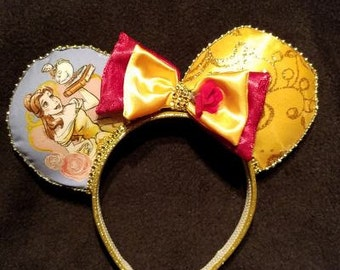 Princess Bell with Mrs Potts Disney Inspired Ears