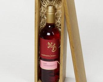 Wooden Wine /Whisky /Spirit /Luxury Oak Box /Single Bottle /Hand crafted /Gift